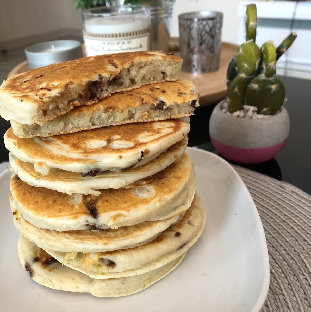 Pancakes banane & pépites de chocolat
